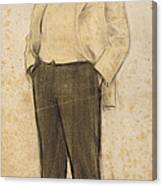 Portrait Of Hermenegild Miralles Canvas Print