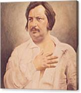 Portrait Of Honore De Balzac Canvas Print