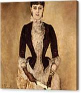 Portrait Of Isabella Reisser Canvas Print