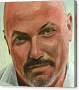 Portrait Of Jamez Ronald Prudlick Canvas Print