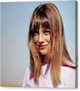 Portrait Of Jane Birkin Canvas Print