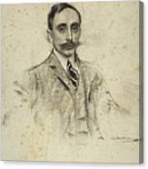 Portrait Of Joan Ventosa Canvas Print