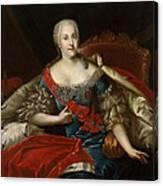 Portrait Of Johanna-elizabeth, Electress Of Anhalt-zerbst, C.1746 Oil On Canvas Canvas Print