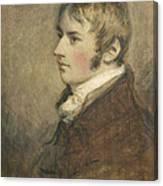 Portrait Of John Constable Aged Twenty Canvas Print