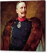 Portrait Of Kaiser Wilhelm II 1859-1941 Canvas Print