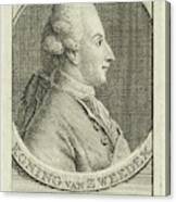 Portrait Of King Gustav IIi Of Sweden, Cornelis Van Noorde Canvas Print
