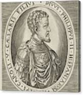 Portrait Of King Philip II Of Spain, Frans Huys Canvas Print