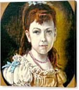 Portrait Of Little Girl Canvas Print