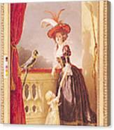 Portrait Of Louise-elisabeth De France 1727-59 Duchess Of Parma And Her Son Ferdinand 1751-1802 Canvas Print