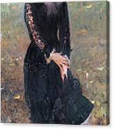Portrait Of Madame Edouard Pailleron Canvas Print