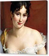 Portrait Of Madame Recamier  Canvas Print