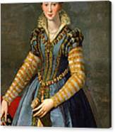 Portrait Of Maria De Medici Or Eleonora Di Garzia Di Toledo Canvas Print
