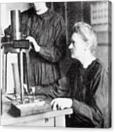 Portrait Of Marie & Irene Curie Canvas Print