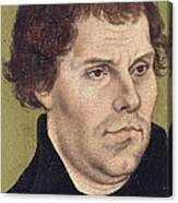 Portrait Of Martin Luther Aged 43 Canvas Print