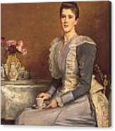 Portrait Of Mary Chamberlain Canvas Print