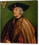 Portrait Of Maximilian I Canvas Print