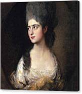 Portrait Of Miss Elizabeth Linley  Later Mrs Richard Brinsley Sheridan Canvas Print