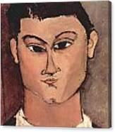Portrait Of Moise Kisling Canvas Print