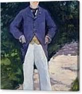 Portrait Of Monsieur Brun Canvas Print