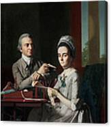 Portrait Of Mr And Mrs Thomas Mifflin Canvas Print