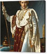 Portrait Of Napoleon In Coronation Robes Canvas Print