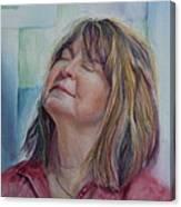 Portrait Of Peg Canvas Print