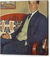 Portrait Of Peter Kapitza 1926 Canvas Print
