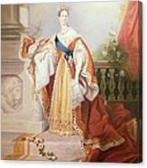Portrait Of Queen Victoria Canvas Print