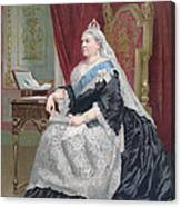 Portrait Of Queen Victoria Canvas Print
