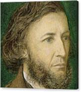 Portrait Of Robert Browning Canvas Print