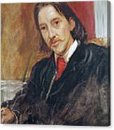 Portrait Of Robert Louis Stevenson 1850-1894 1886 Oil On Canvas Canvas Print