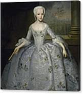 Portrait Of Sarah Eleanore Fairmore Canvas Print