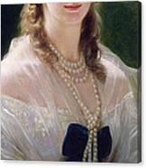 Portrait Of Sophie Troubetskoy  Canvas Print