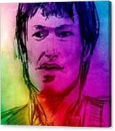 Rainbow Portrait Of Stevie Winwood Canvas Print