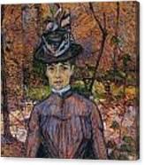 Portrait Of Suzanne Valadon Canvas Print