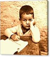 Portrait of the Artist as a Young Boy Canvas Print