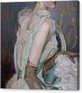Portrait Of The Countess De Leusse Canvas Print