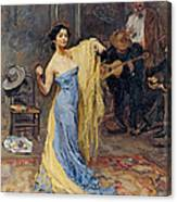 Portrait Of The Dancer Anna Pawlowa Canvas Print