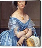 Portrait Of The Princesse De Broglie Canvas Print