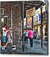 Portrait Of The Street Musician Sketch  Canvas Print