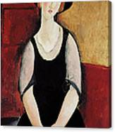 Portrait Of Thora Klinchlowstrom Canvas Print