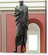 Portrait Statue Of Plato By John Joseph Canvas Print
