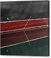 Portside Stern Water Line Queen Mary Ocean Liner Long Beach Ca Canvas Print