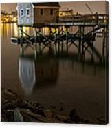 Portsmouth Harbor Night 1 Canvas Print