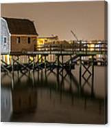 Portsmouth Harbor Night 2 Canvas Print