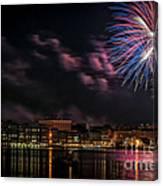Portsmouth Nh Fireworks 2013 Canvas Print