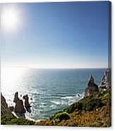 Portugal, View Of Praia Da Ursa Canvas Print