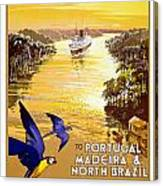 Portugal Vintage Travel Poster Canvas Print