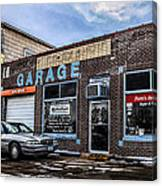 Portz's Garage Canvas Print
