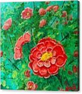 Posie In Red Canvas Print